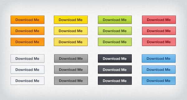 25 Free To Download Web Buttons Psd Files