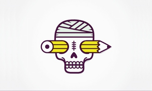 Cabeza de Lápiz Logo