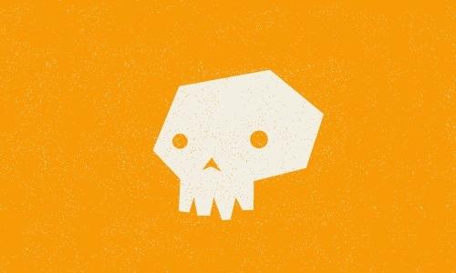 orange skull logo