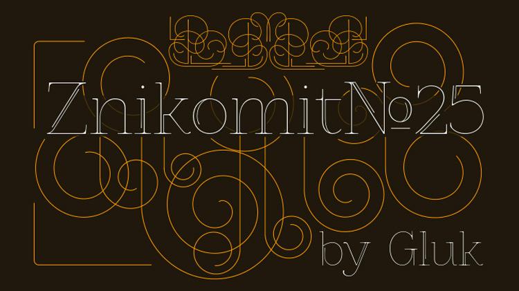 ZnikomitNo25 Free Typeface