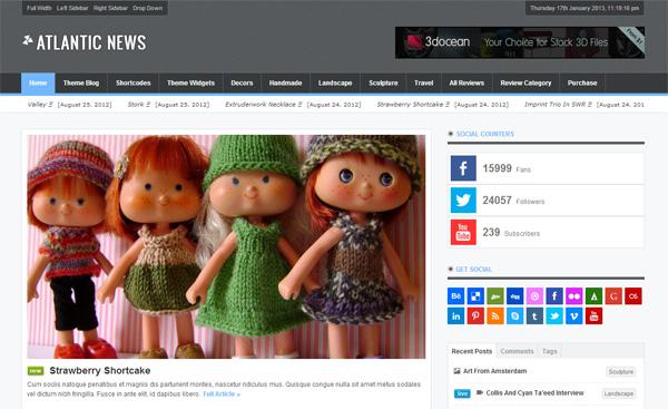 Atlantic News WordPress Theme