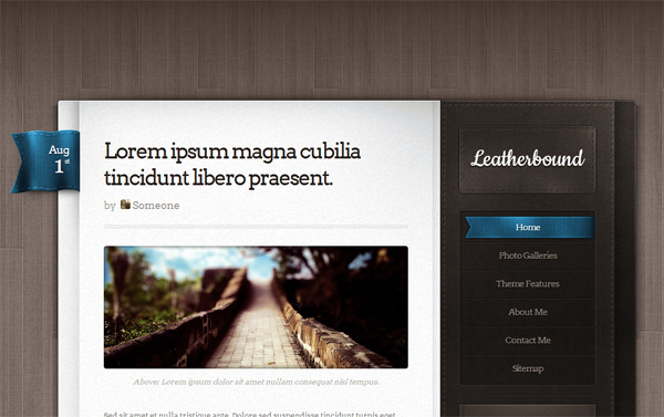 Leatherbound WordPress Theme