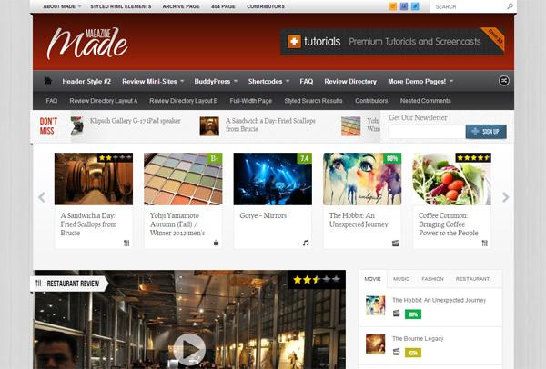 Made Magazine WordPress Theme