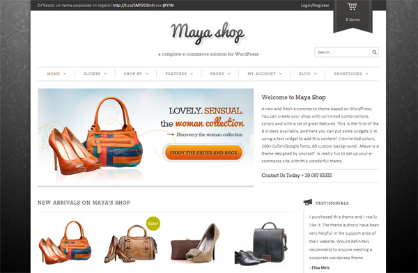 Maya Shop WordPress Theme