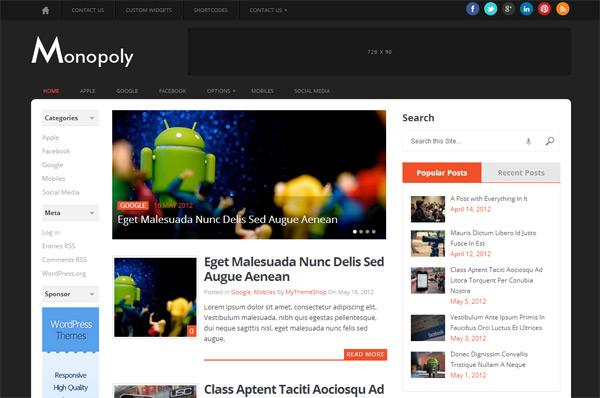 Monopoly WordPress Theme