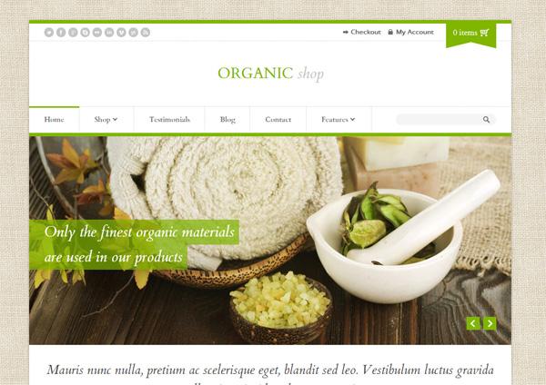 Organic Shop WordPress Theme