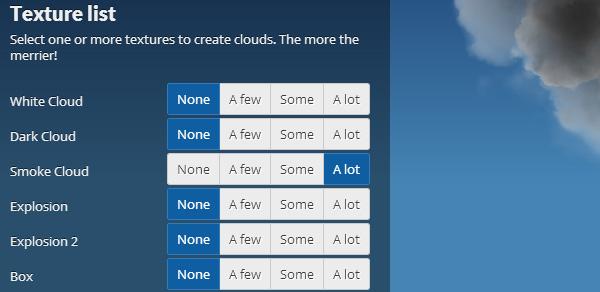 3D Clouds Texture Levels