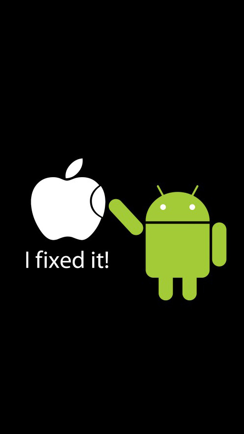 Android fixed Apple