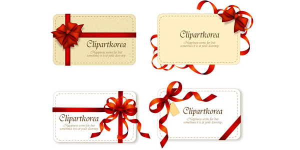 Valentine's Day ribbon Cards
