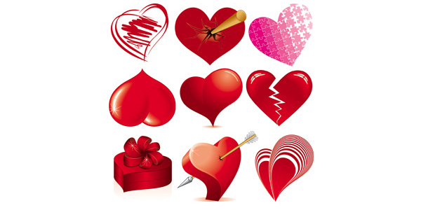 Valentine's Day Vector Hearts