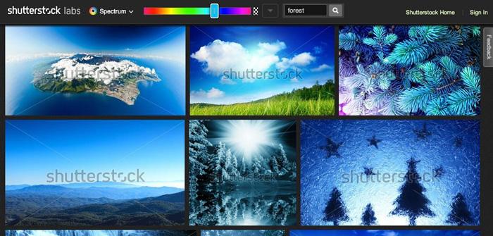 Shutterstock Color Spectrum