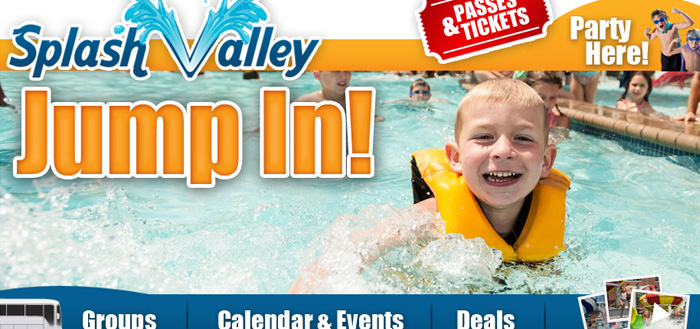 30 beautiful water themed websites splash valley water park maxwellsz