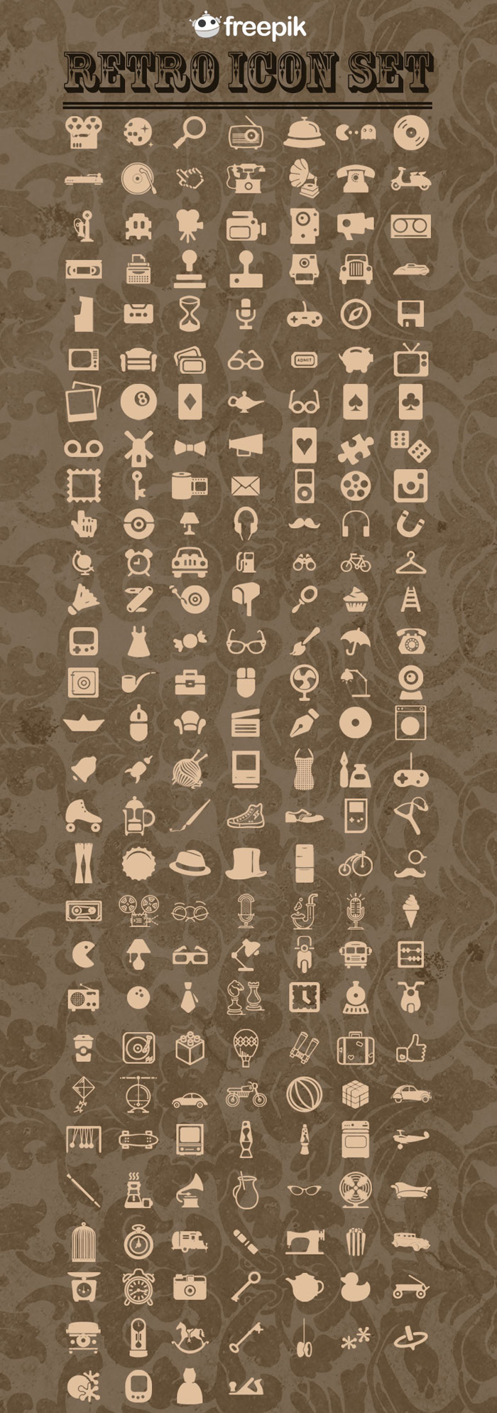 Retro Icons Pack Preview