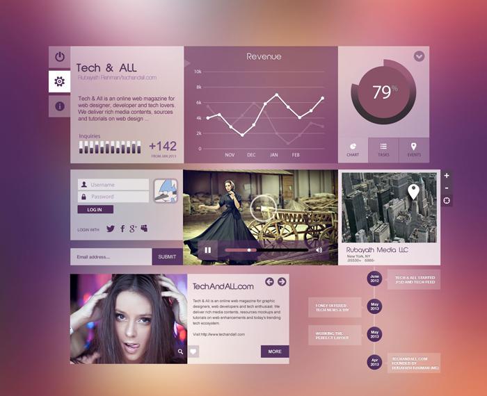 Purple City UI Elements