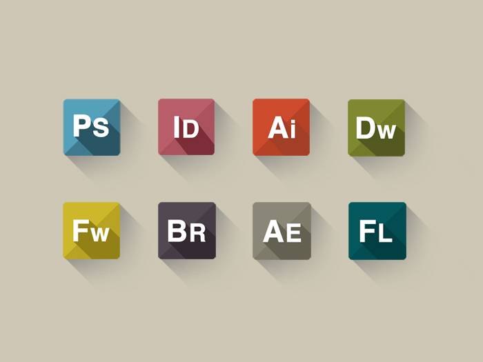 Adobe Long Shadow Icons