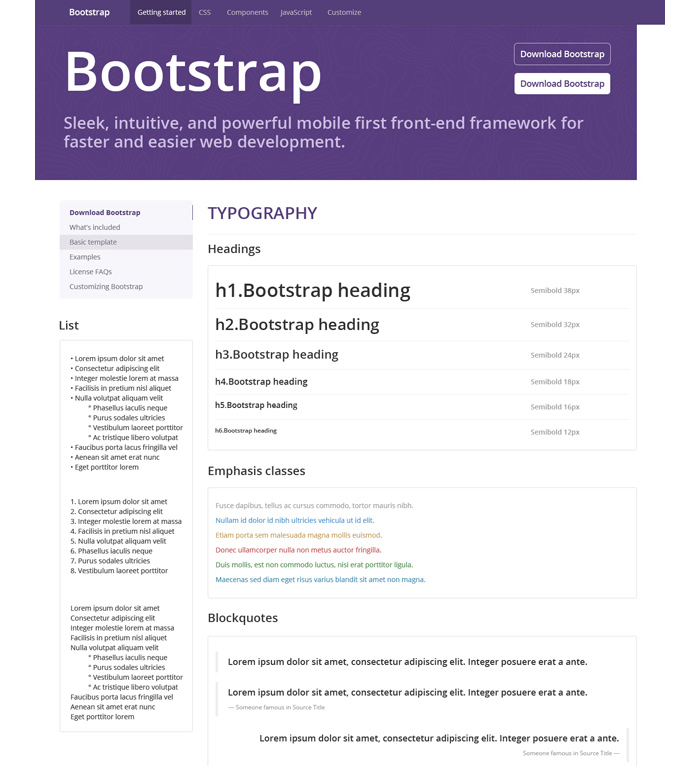 Bootstrap 3 PSD