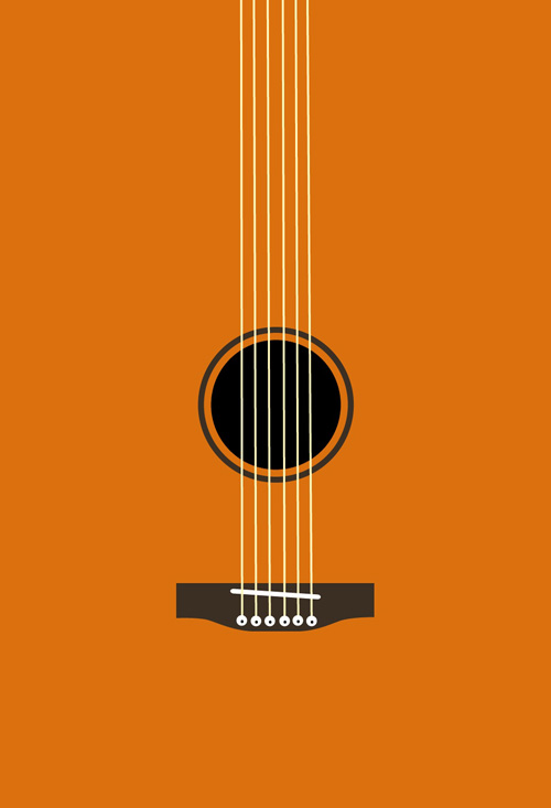 Guitar iOS 7 Wallpaper