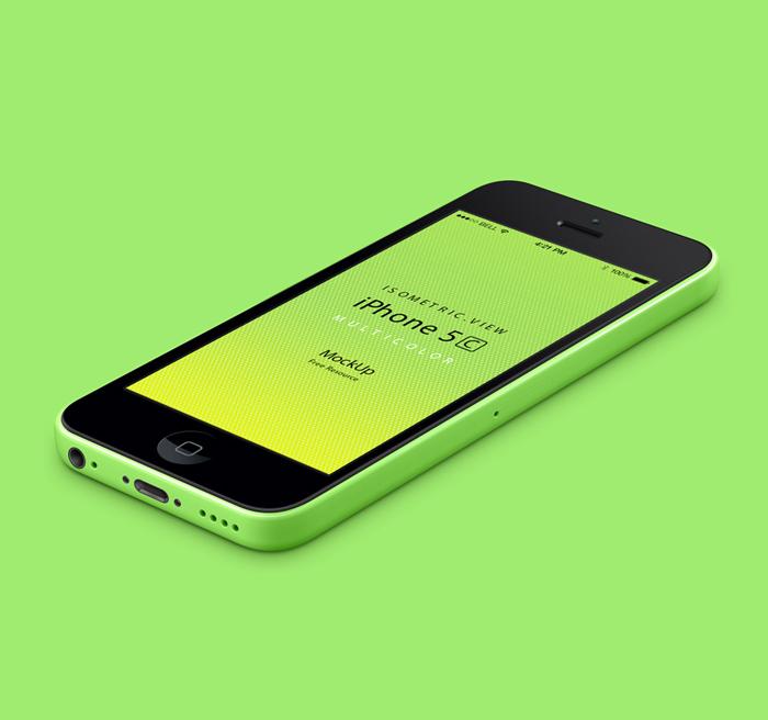 iPhone 5C 3D Mockup