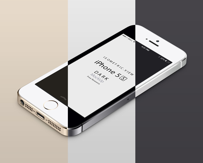 3D Mockup of the iPhone 5S