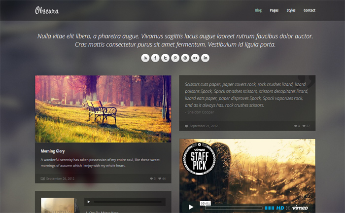 Obscura Responsive HTML Template