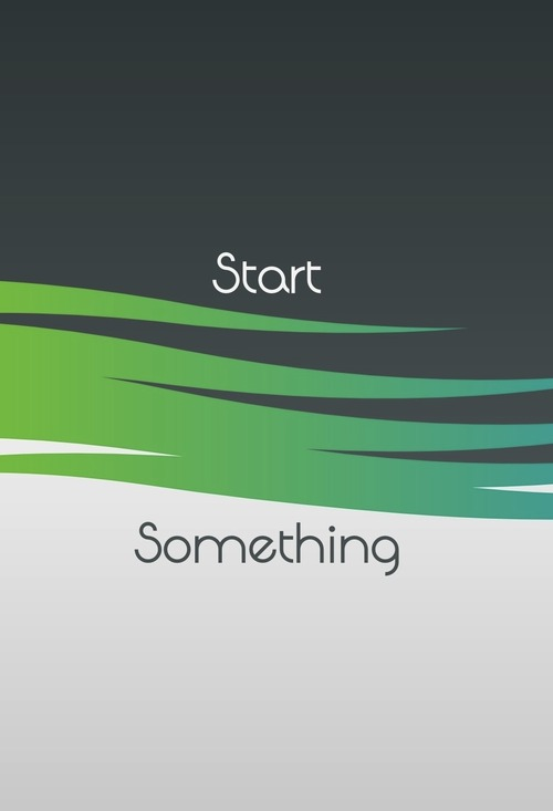 Start something ios 7 wallpaper