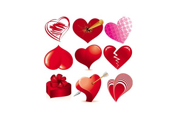Love Heart Vectors