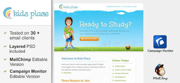 Kids Email Newsletter