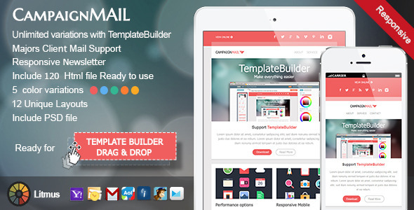 Cool Email Newsletter Templates For Free - Mailchimp psd template