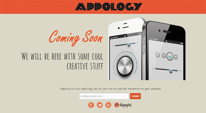 Appology Comming Soon Template