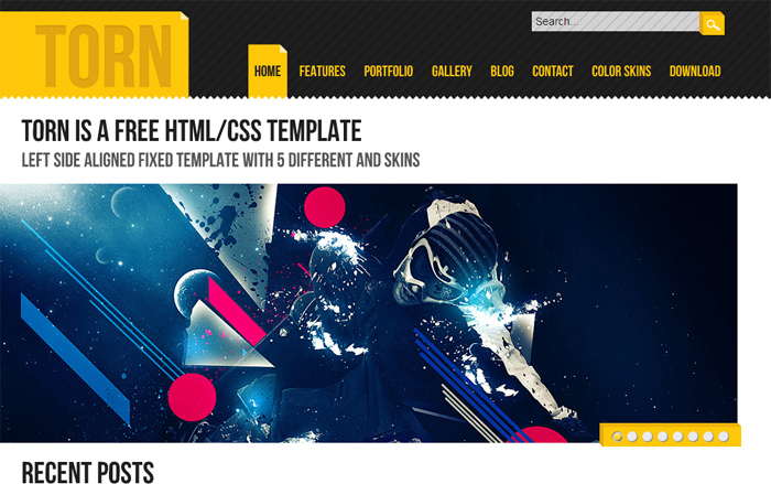 Torn HTML Template