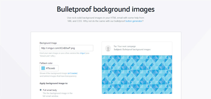 Bulletproof Email Backgrounds