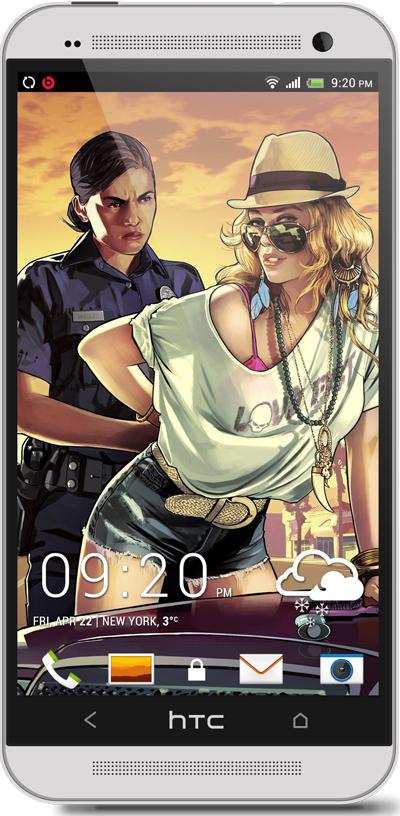 GTA V HTC One Wallpaper