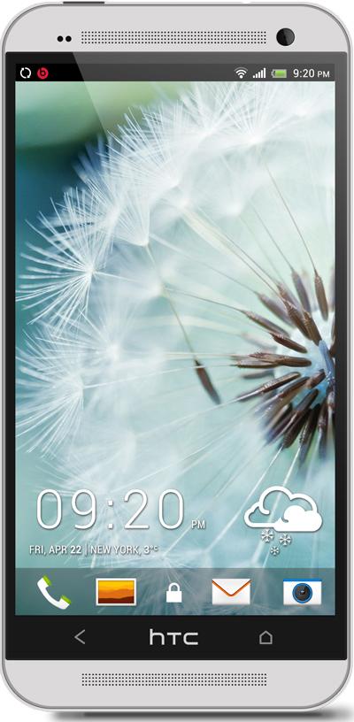 White Dandelion HTC One Wallpaper