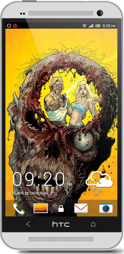 Zombie Head Halloween HTC One Wallpaper