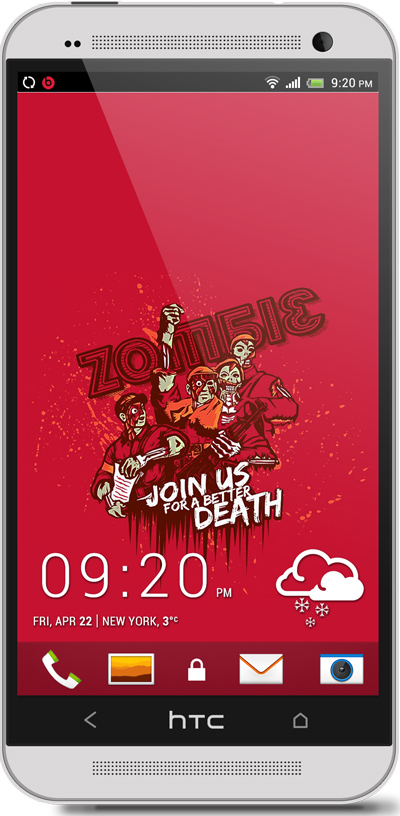 Zombies Halloween HTC One Wallpaper