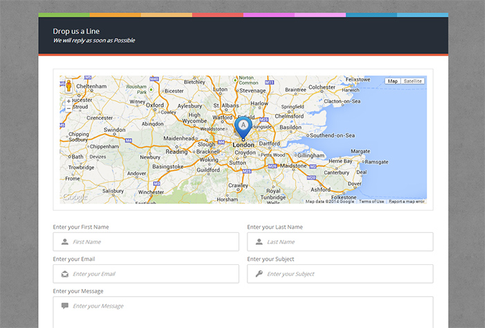 PHP Ajax contact Form with Google Maps