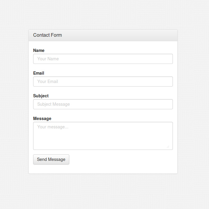 Bootstrap 3 Contact Form