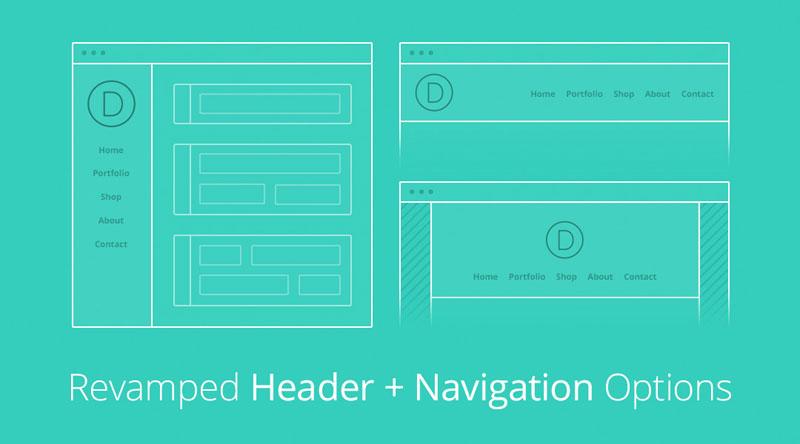 Divi Header and Navigation Options
