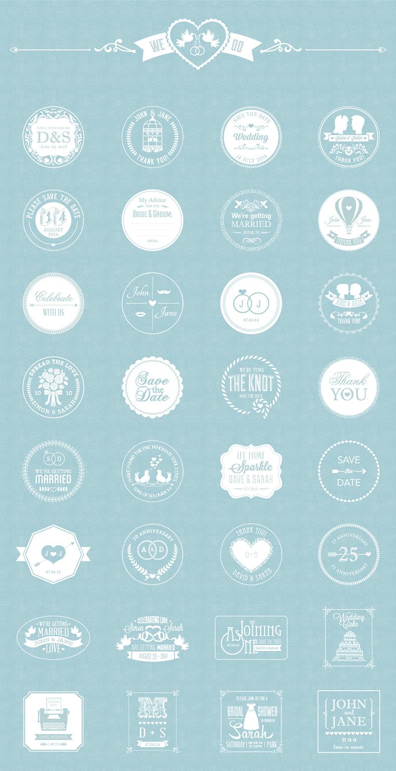Free Wedding Badges