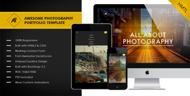 Awesome - Photography and Portfolio Template