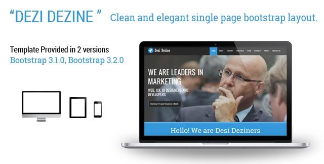 Desi Dezine - Bootstrap Landing page