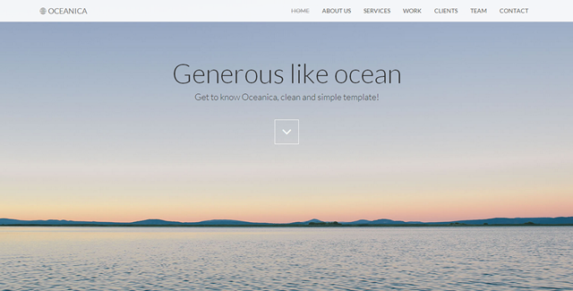 Oceanica - Responsive Single Page Theme/?ref=btstrapbay
