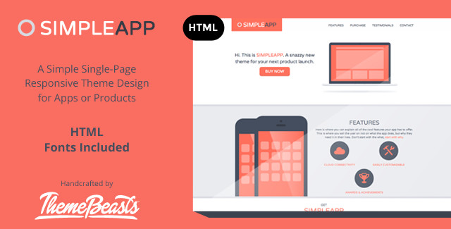 30 premium one page bootstrap templates for Easy app design