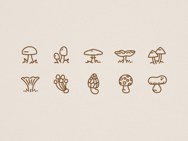 icons-autumn-mushrooms