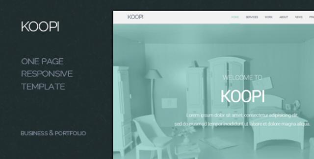 koopi - one page flat creative theme