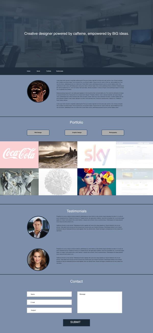 7.Flat Portfolio Design