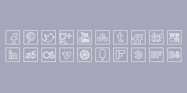social_media_icons_white_line_icons_set