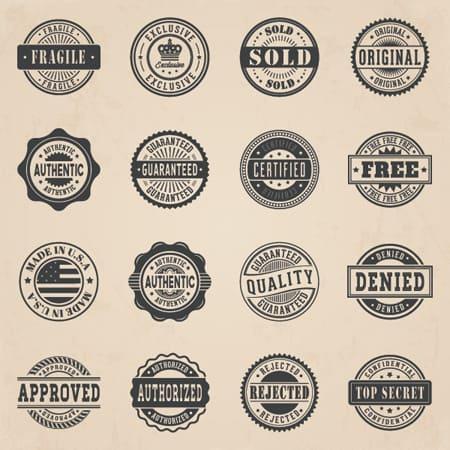 commercial-stamp-badge-vector-set