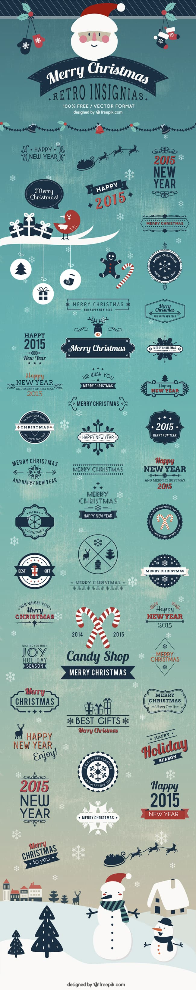 Christmas Insignias Badges