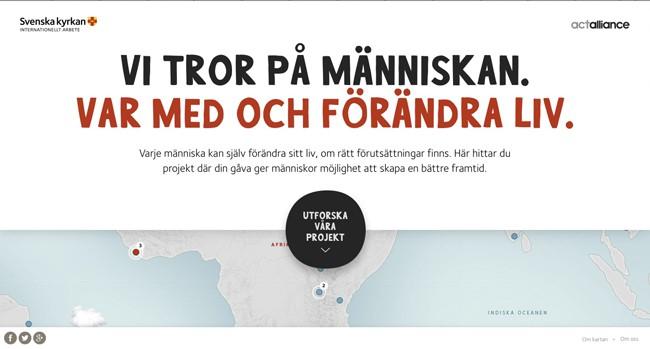 inspiration-interactive maps| Svenska kyrkans Internationella arbete